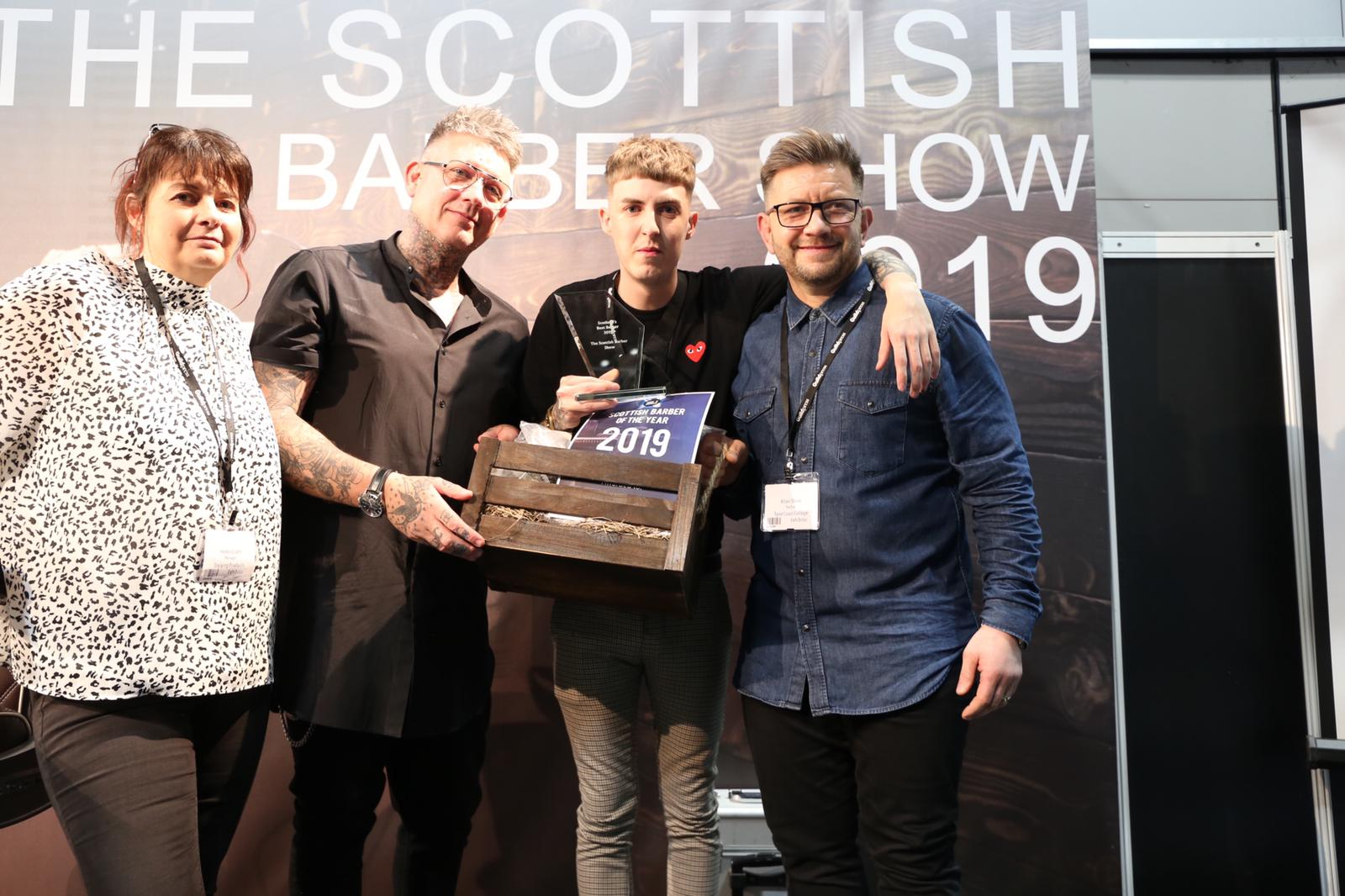 jJudges and winner of the Scottish Best Barber Competition